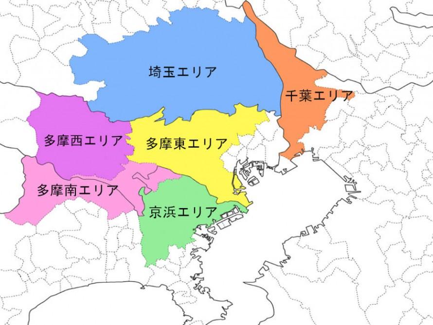 画像:さつき水道サービス対応エリアの地図画像