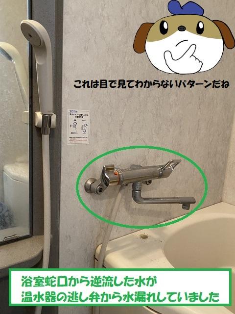 【画像】浴室蛇口逆流