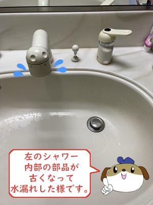 【画像】交換前の蛇口