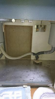 台所排水修理後
