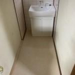 洗面台交換、床張り替え 千葉県流山市 U様邸