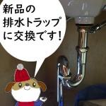 洗面排水トラップ交換 東京都小金井市 D様邸